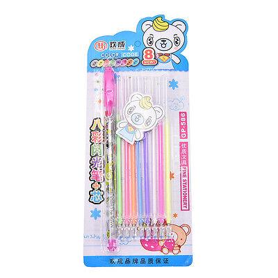 8PCS/Set Colorful Gel Pen Cute Pens Student Office Accessories MZ XEF
