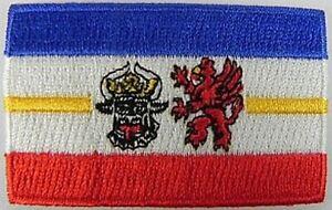 Mecklenburg-Vorpommern-Aufnaeher-gestickt-Flagge-Fahne-Patch-Aufbuegler-6-5cm-neu