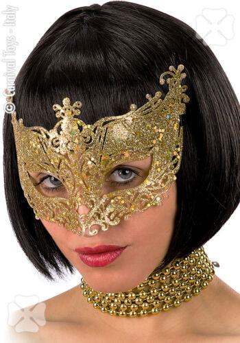 Carnival Toys Maschera Glitter Oro  In Plastica 1Pz