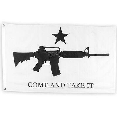 AR-15 Come and Take it M4 Machine GUN Flag Perma Dye 3x5 ft Flag banner