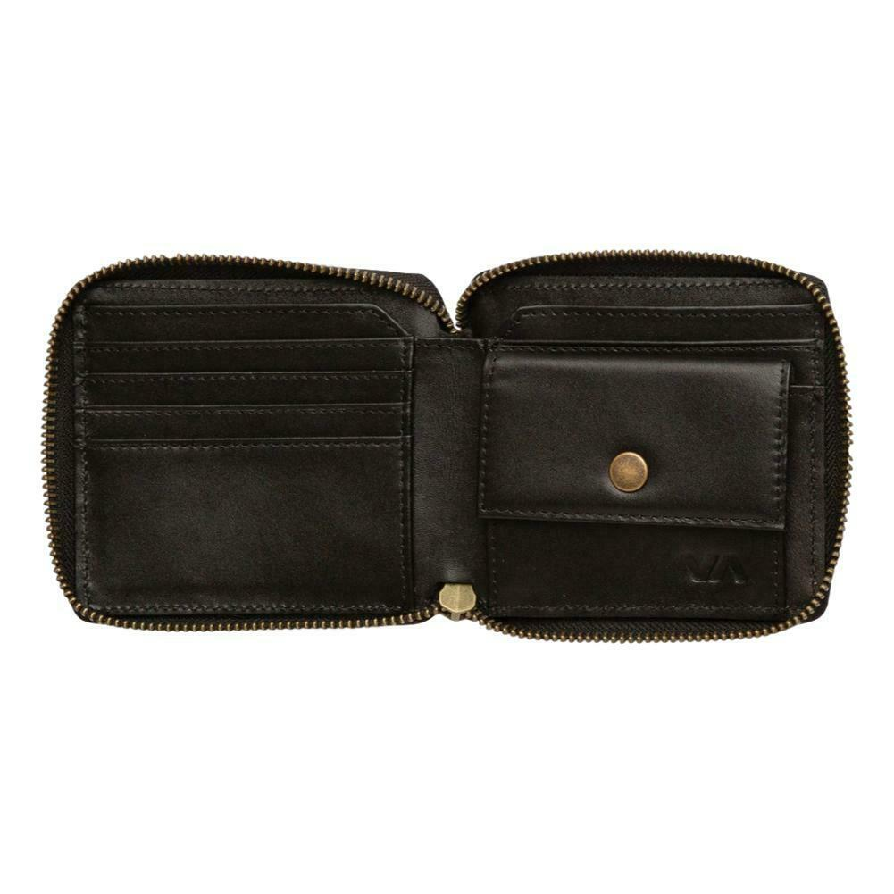 RVCA Zip Around Wallet - Black NEW