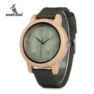 Details about BOBO BIRD NEW Wood Bamboo Green Designer Watch Xmas Gifts For  Him Men Father Son