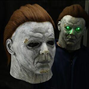 Halloween 2020 Michael Myers Mask Ebay Horror Michael Myers LED Halloween Kills Mask Latex Scary Killer