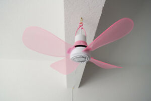 110V-AC-17IN-PORTABLE-EZ-HANG-4-PINK-BLADES-HANGING-MINI-CEILING-FAN-W-12-039-CORD