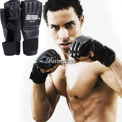 MMA UFC Sanda Muay Thai Training Punching Bag Half Mitts Sparring Boxing Gloves