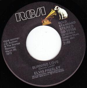 "ELVIS PRESLEY - Burning Love   7"" 45"