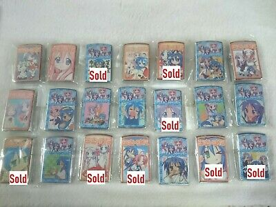 Mixed Anime Zippo Can ship only outer case without lighter inside.