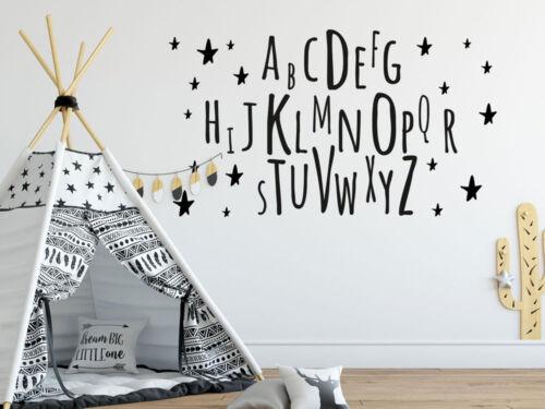 Wandtattoo Alphabet Kinderzimmer Buchstaben Geschenke zur Einschulung Wanddeko