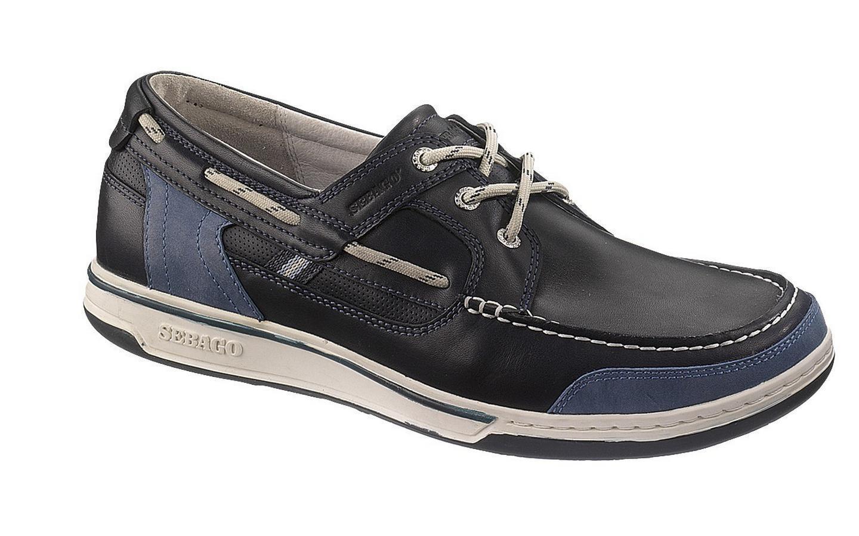 Sebago Triton Three-Eye Deck Stiefel Schuhe Herren B81023 Blau Nacht Neu  | Qualität