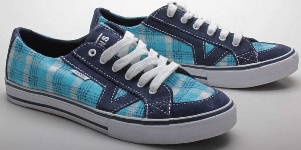 Vans Schuhe Tory XFQ1CG Flannel Plaid Blau Blau