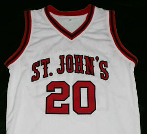 da3d2ef1aad CHRIS MULLIN #20 ST JOHN'S UNIVERSITY REDMEN JERSEY WHITE NEW SEWN ...