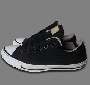 5 Black Shoes Unisex 5 Pumps Low 37 textile Trainers Eur uk Converse Plimsolls H8wq7fc