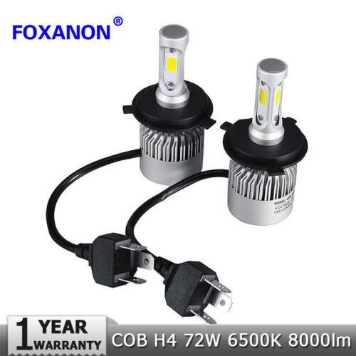 Kit H4 COB LED Light Headlight Hi-Lo Beam Car Bulb 6500k White bulb S2