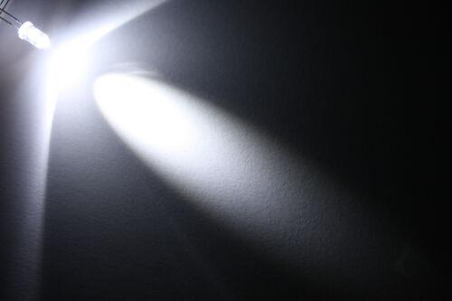 1x 5mm LED rond filaire 60cm diode résistance 5mm