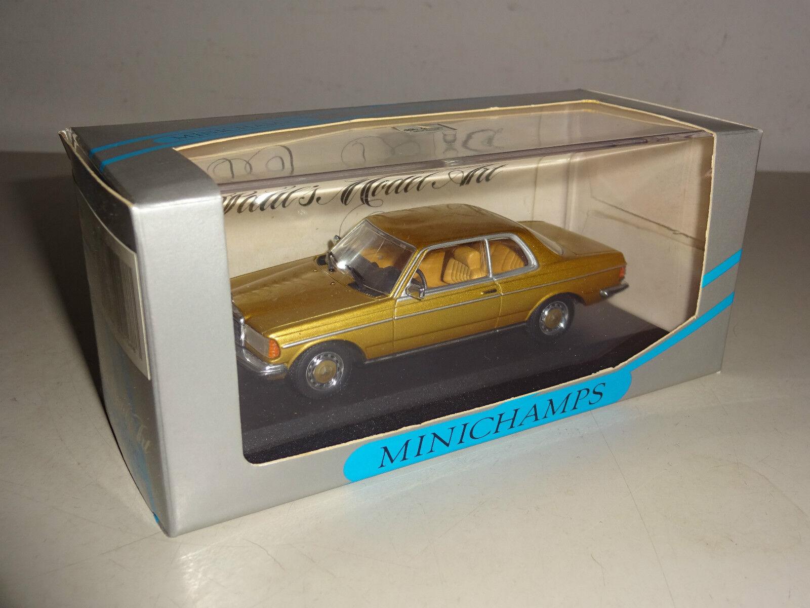 Mercedes-Benz W 123 coupe 230 EC gold metallic-Minichamps 1 43