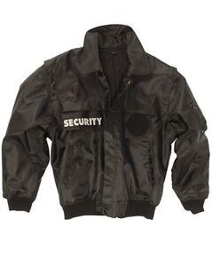 Sécurité Blouson / Gilet Zip-off Noir, Service De Sécurité, -nouveau