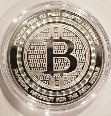 Silver Shield Bitcoin Crypto NO 2014 1 oz .999 Silver BITCON BU IN AIRTITE RARE