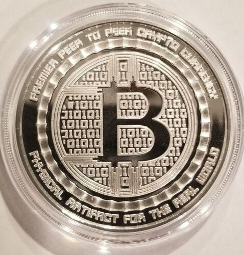 Value conversion QR code Bitcoin 1 oz .999 fine Solid silver commemorative NEW