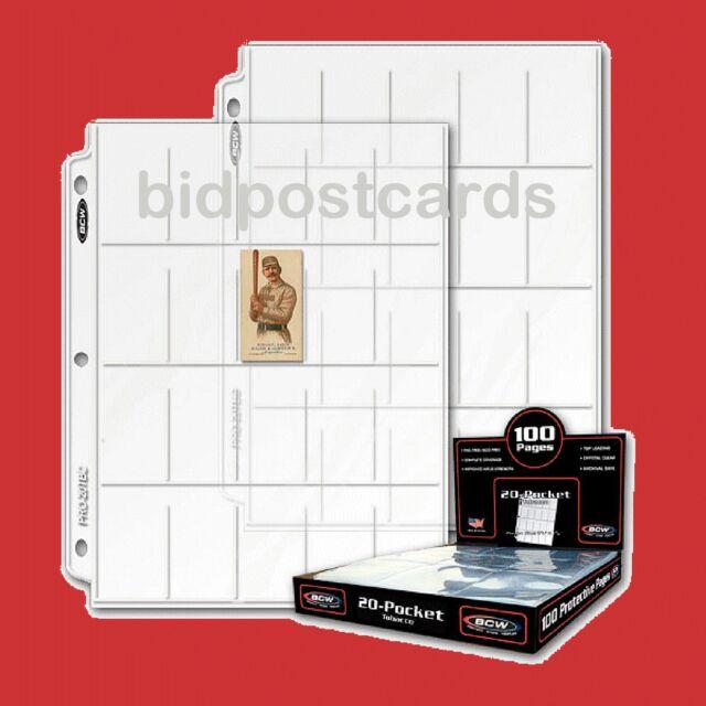 300 BCW Pro 20 Pocket T206 Tobacco Baseball Card Album