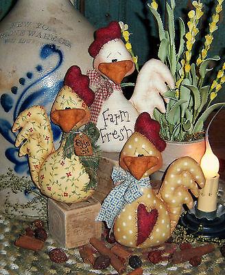 Patti's Ratties Original Primitive Chicken Ornies Bowl Fillers Pattern #331
