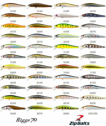 Köder,Killer,Forelle,Barsch,Raubfische ZipBaits Rigge 70F Angeln Japan Wobbler