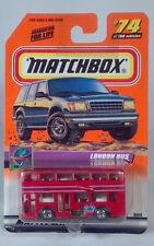 "Matchbox London Bus 3"" Die Cast Scale Model Double Deck Red 74 On Tour"
