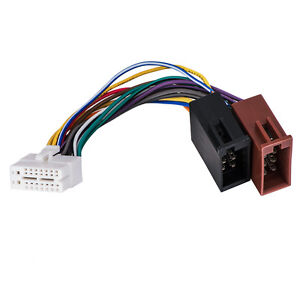 a4a us shipping clarion 16pin stereo radio iso wiring wire harness rh ebay com