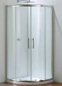 klkn qu 90 001 echtglas duschkabine dusche duschabtrennung glas kabine rund 90 ebay. Black Bedroom Furniture Sets. Home Design Ideas