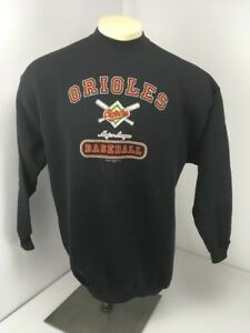VTG-039-02-Majestic-Black-Baltimore-Orioles-MLB-Baseball-Crewneck-L-S-Sweatshirt-XL