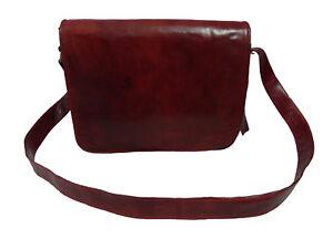 Vintage-Leather-Messenger-Bag-15-034-Laptop-Satchel-School-Business-Shoulder-Bag