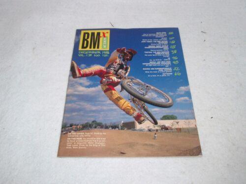 12 DECEMBER 1988 MAGAZINE VOLUME 13 VINTAGE ORIGINAL BMX ACTION NO