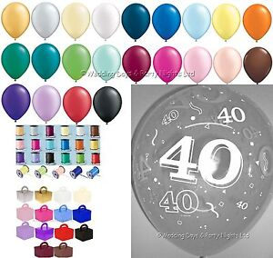Image Is Loading 15 Table Party Kit 40th Birthday Anniversary Helium