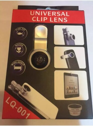 Wide Angle Clip Lens 3in1 Fish Eye Macro iphone 4 5 6 Samsung PC