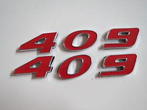 CHEVROLET 502 STROKER ENGINE ID FENDER HOOD SCOOP QUARTER TRUNK EMBLEMS RED