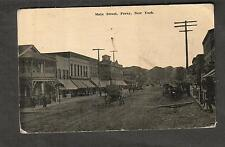 1914 Main Street Perry NY post card William Wood to Park Avenue Hotel Kane PA