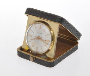 Turler-original-vintage-1960-travel-pocket-mechanical-Alarm-Clock-exc