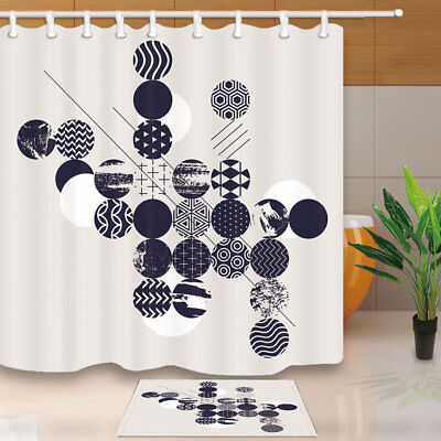 """71/"""" Leaping Racing Cars and Driver Mud Bathroom Fabric Shower Curtain /& 12 Hooks"""