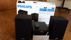Philips-MCM2300-Kompaktanlage-CD-USB-Audio-Eingang-mit-Fernbedienung