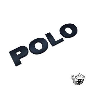 VOLKSWAGEN-VW-Polo-Insignia-Trasero-Negro-Satinado-Letras-Auto-Adhesivo-120MM-X-25MM