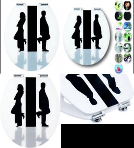 CORNAT ksdsc 307 Arte de Acryl WC Asiento-Negro blancoo
