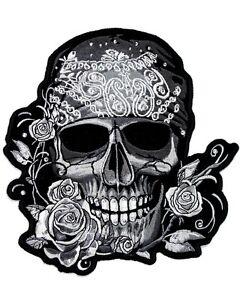 Grand format Patch /écusson Biker Skull Etoile Ride Free