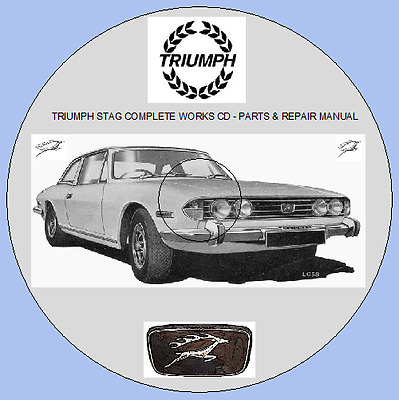 Triumph Stag Workshop Manual With Colour Wiring Diagram Ebay