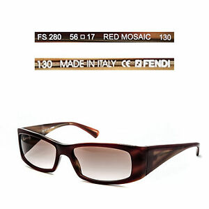 ee643f5ed13a Image is loading Fendi-FS280-RED-MOSAIC-gradient-Sunglasses-Made-in-