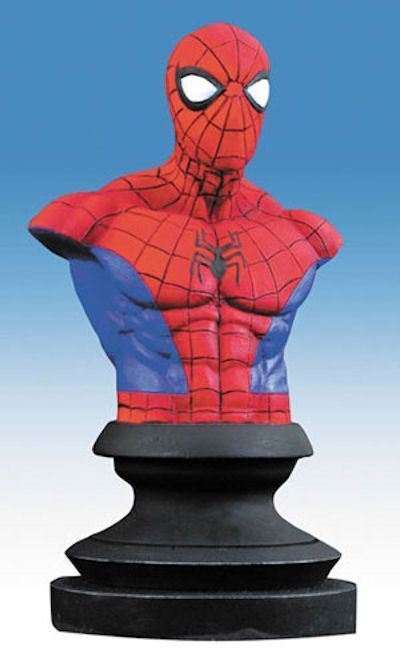 MARVEL ICONS SPIDER MAN RESIN STATUE BUST FIGURE ALEX ROSS SPIDERMAN NEW