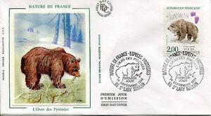FRANCE-FDC-2721-1-OURS-14-Septembre-1991-LUXE-sur-soie