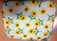 Set Of 4 Kitchen Chair Pads Cushions W/strings, Sunflowers, Dbl Sided, 12 X 12