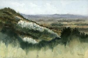 TONY-STREEK-Watercolour-Painting-QUARRY-AT-BOX-HILL-1982