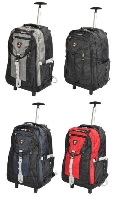 Cabin Backpack Wheels Hiking Trekking Camping Mountaineering Telescopic Handle