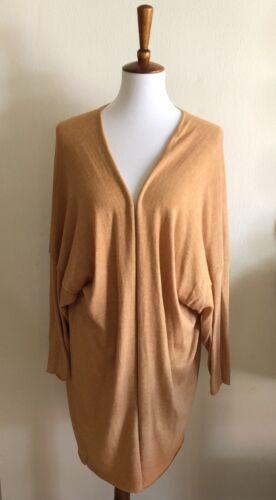 One Lagenlook Oversize arancione aperta maglia Os motivo e in Eskandar con Size arancione Cardigan qPXvSx