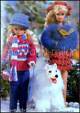 Knitting/Crochet Pattern Copy BARBIE & SKIPPER DOLLS CLOTHES WALKING OUTFITS